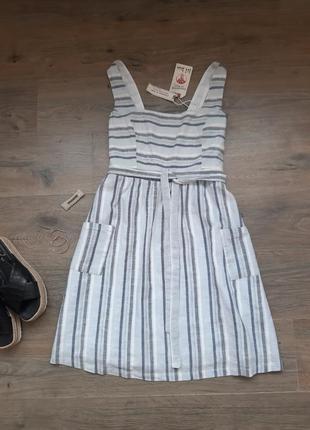 Хлопковое платье в полоску. плаття в полоску