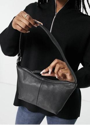 Кожаная сумка asos design