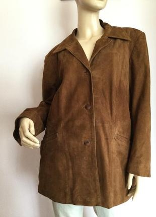 Мягкая замшевая курточка свободного фасона/44/brend combipel