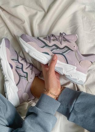 Новинка женские кроссовки adidas ozweego purple наложка