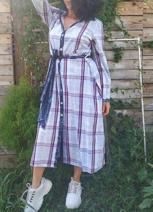Платье миди длинное платье