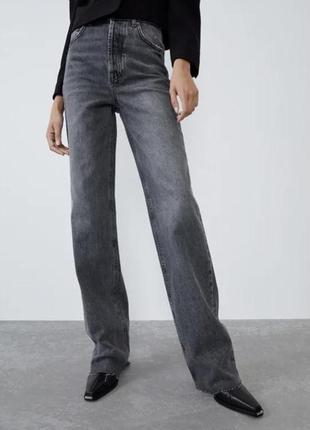 Широкие джинсы  wide leg jeans zara
