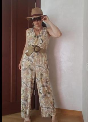 Комбинезон широкие брюки палаццо вискоза