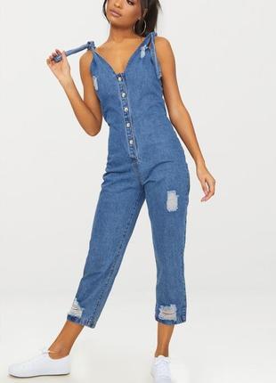 Плотный джинсовый комбинезон plt