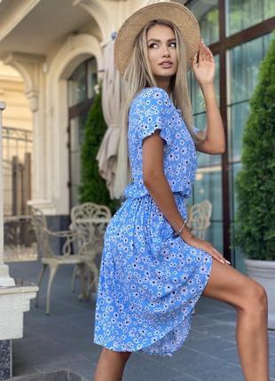 Платье женское нарядное миди летнее легкое цветочное длинное4 фото
