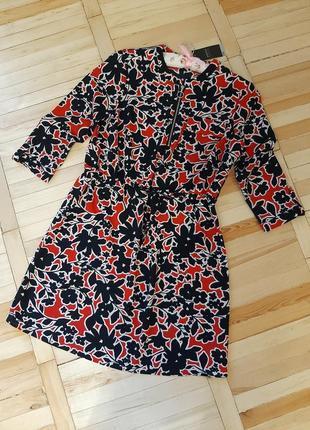Красива сукня/ новое платье/квіти/ принт / талия шнуровка/легка сукня