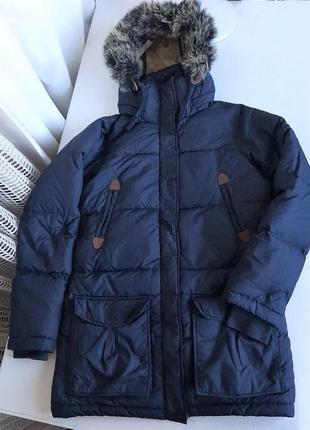 Пуховик удлинённый зимняя куртка аляска на зиму