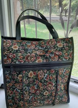 🌺🌸🍃 удобная сумка шоппер с вышивкой