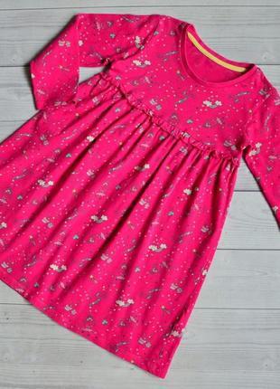 Коттоновое платье с рукавами matalan 3-4 года