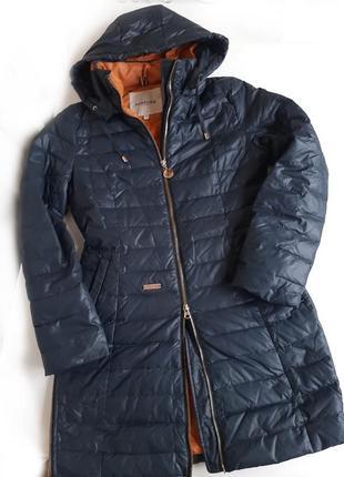 Пуховик пальто purelife натуральный пух дутик тёплая зима