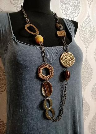 Ny.неординарное колье,ожерелье в стиле бохо.