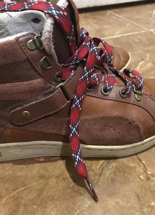 Кожаные демисезонные ботинки puma