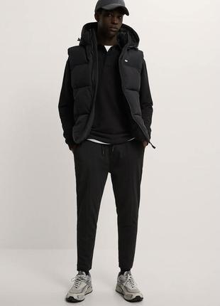 Джогери чоловічі, спортивні штани чорні, вузького крою.