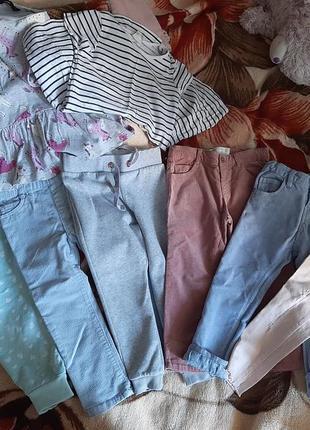 Штаны брюки 2-3 6 шт..!платья  в подарок!!!