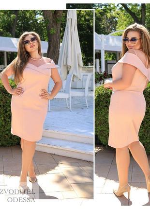 Платье женское летнее батал нарядное легкое мини короткое до колена