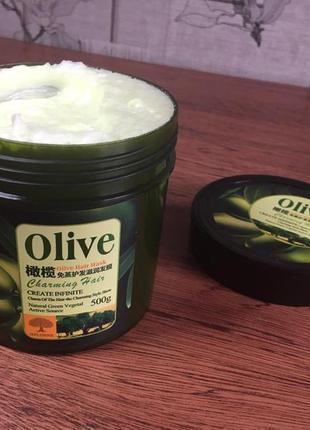 Маска для волосся з оливковою олією bioaqua olive hair mask (500 мл)