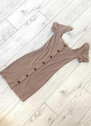 Базовое платье бежевого цвета от divided