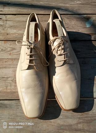 Фирменные туфли из натуральной кожи ягненка romeo 44-45