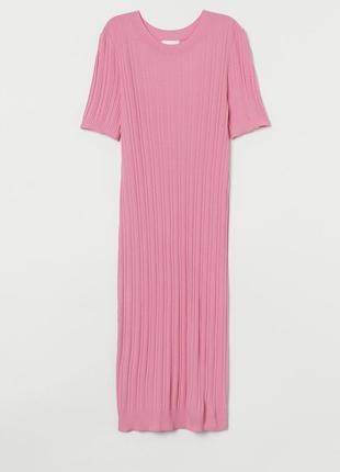 Платье миди в рубчик, платье для беременных
