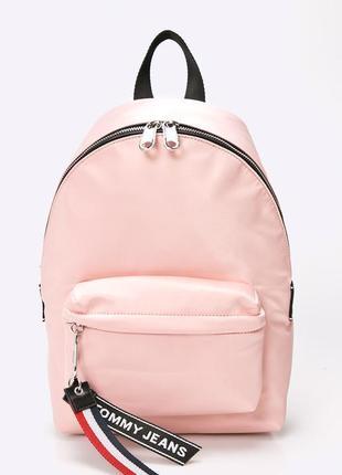 Розовый рюкзак tommy hilfiger