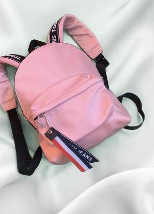 Розовый рюкзак tommy hilfiger2 фото