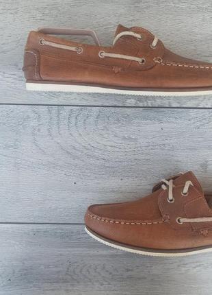 River island мужские кожаные туфли топ сайдеры кожа оригинал 43 размер