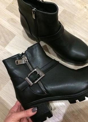 Зимние ботинки(р.: 38 39 40)