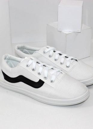 Женские кеды кроссовки белые черные