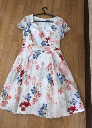 Брендовое хлопковое платье от orsay. новое р-р l/46-48 наш