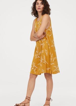 Платье с пальмовыми листьями h&m