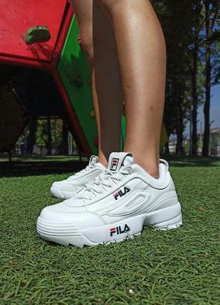 Женские кроссовки fila disruptor белые