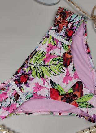 Купальник плавки низ модные высокие в тропический принт river island uk 10/38/s