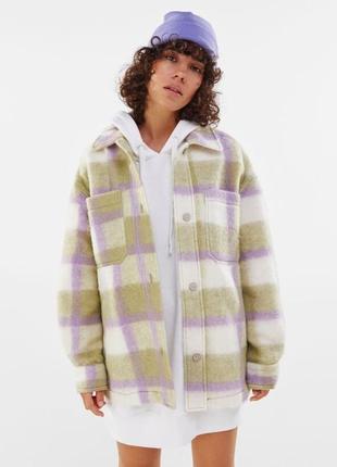 Теплая рубашка bershks, рубашка в клетку теплая, утепленная рубашка