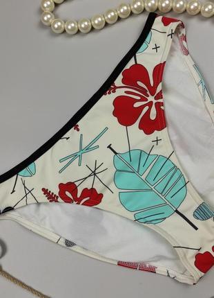 Купальник плавки низ красивые в тропический принт uk 8-10