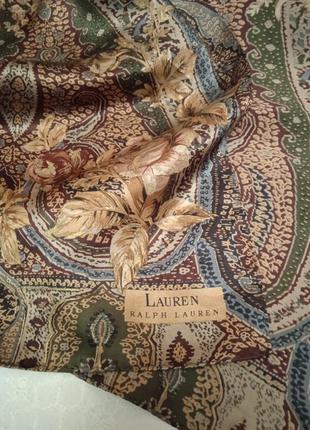 Шикарный шёлковый подписной шарфик ретро винтаж