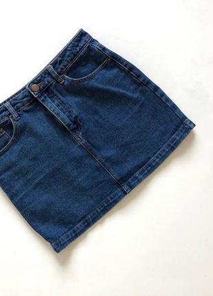 Джинсовая синяя стильная юбка forever 21
