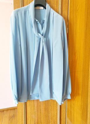 Дуже шикарна брендова блуза,100% шовк ,овeрсайз