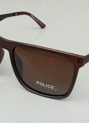 Police очки мужские солнцезащитные коричневые поляризированые