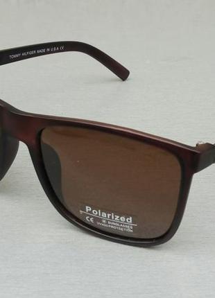 Tommy hilfiger очки мужские солнцезащитные коричневые поляризированые