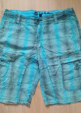 Чоловічі шорти в клітинку  fsbn /мужские шорты с карманами /карго