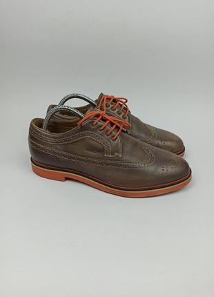 Кожаные туфли, броги geox respira размер 42 (27 см.)