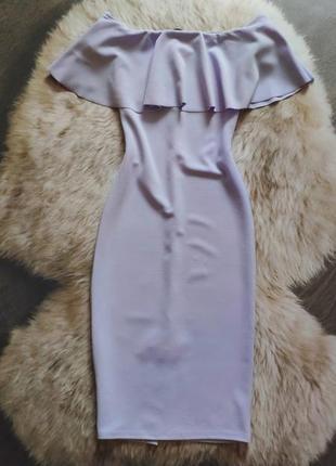 Облегающее платье миди трендового цвета