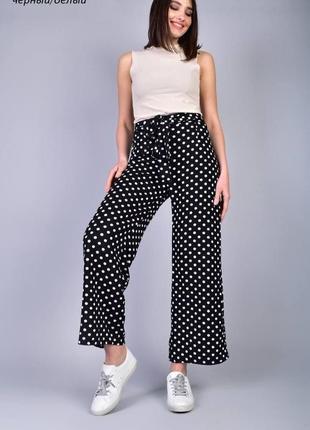 Стильные легкие брюки-кюлоты