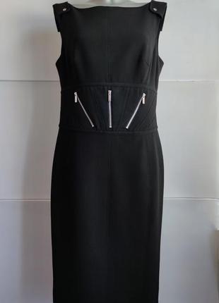 Стильное платье-футляр из коллекции karen millen с молниями, на подкладке