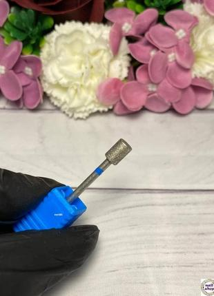 Фреза алмазная - цилиндр диаметр 5 мм, рабочая часть 7 мм, синяя
