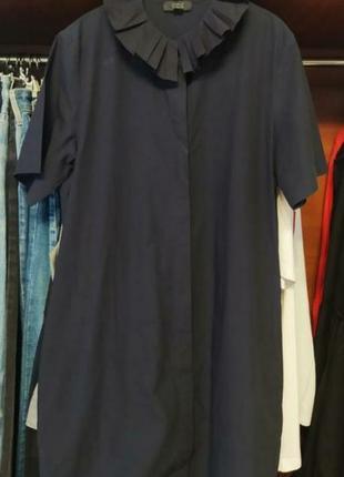 Оригинальное платье-рубашка-туника