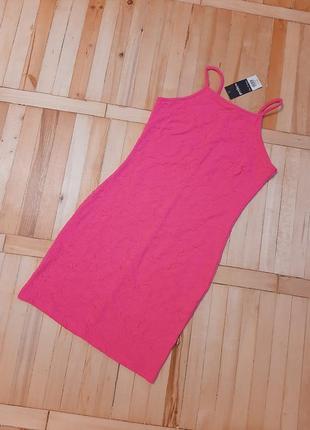 Мини розовое новое платье/ нова сукня/ принт/ плаття