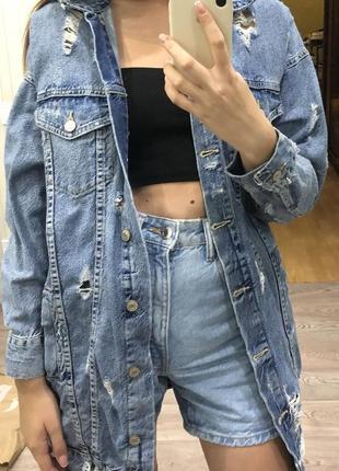 Джинсовая курточка zara