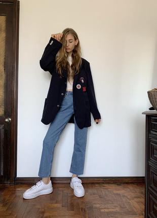 Синий пиджак с лимитированной коллекции tommy hilfiger tailored easy livin