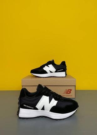 Женские кроссовки new balance 327 black/white